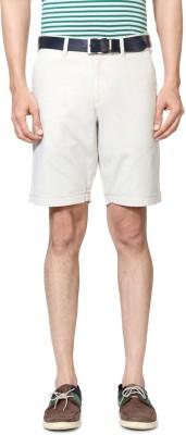 Allen Solly Solid Men's White Basic Shorts