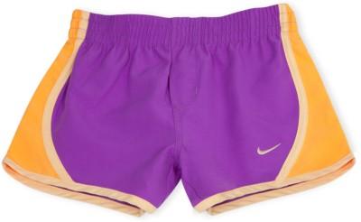 Nike Solid Girl's Purple Basic Shorts