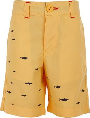 Ice Boys Printed Boy's Yellow Basic Shorts