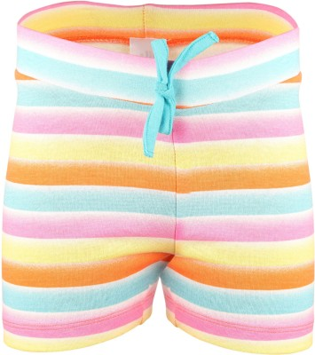 Bio Kid Striped Baby Girl's Multicolor Beach Shorts
