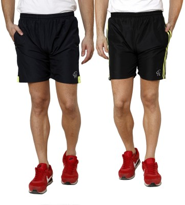 Gen Solid Men's Yellow Gym Shorts