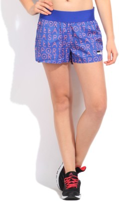 Adidas Printed Women's Blue Sports Shorts at flipkart