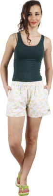 Below The Belt Printed Women's White Night Shorts