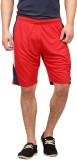 Campus Sutra Solid Men's Red Sports Shor...