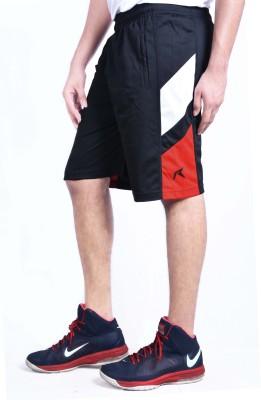 Repugn Solid Men's Black Sports Shorts