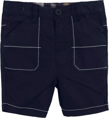 Baby Pure Solid Baby Boy's Dark Blue Basic Shorts