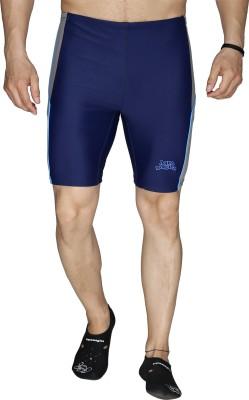 Aquamagica Solid Men's Dark Blue Basic Shorts