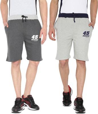 Rodid Solid Men's Grey, Grey Sports Shorts