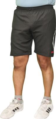 Poliss Solid Men's Black Sports Shorts
