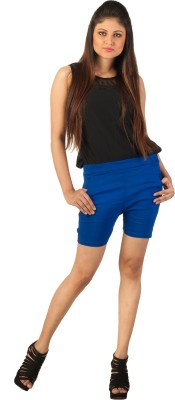 Berries Solid Women's Blue Hotpants