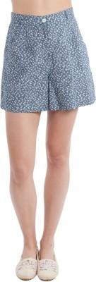 SbuyS Floral Print Women's Grey Basic Shorts