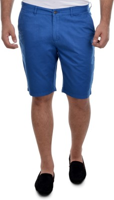 nuluk Solid Men's Blue Chino Shorts