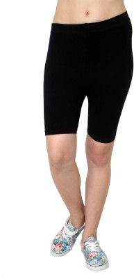 Vinenzia Solid Women's Black Cycling Shorts