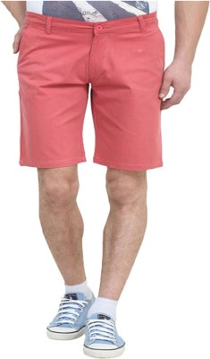 Cool Gene Solid Men's Red Night Shorts