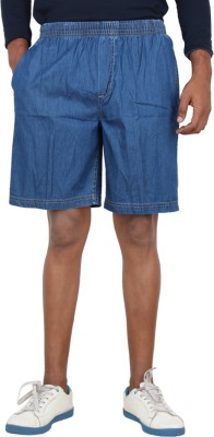 Sequeira Solid Men's Blue Bermuda Shorts