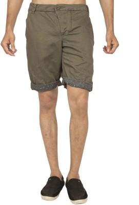 Truccer Basics Solid Men's Green Cargo Shorts