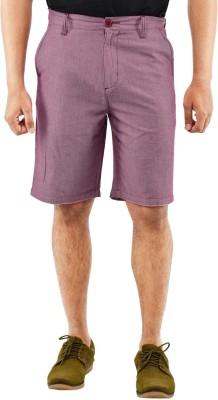 Blue Wave Solid Men's Pink Basic Shorts