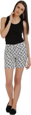 Holidae Printed Women's Black, White Basic Shorts
