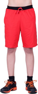 DFH Solid Women's Red Basic Shorts