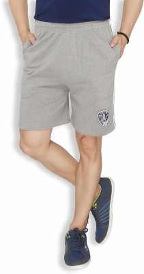 Live In Solid Men's Grey Sports Shorts