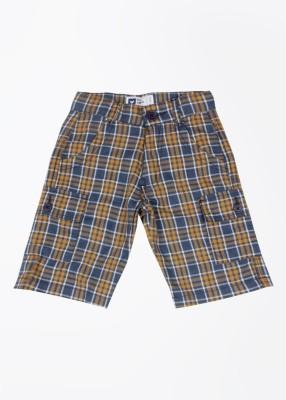 612 League Boy's White, Blue, Orange Basic Shorts