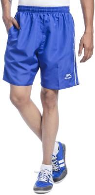 Shiv Naresh Solid Men's Blue Running Shorts