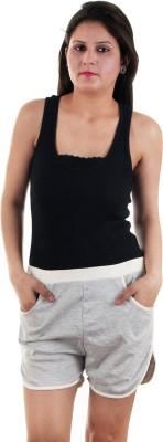 Gwyn Lingerie Solid Women's Grey Basic Shorts