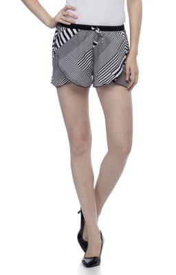 One Femme Printed Women's Multicolor Dolphin Shorts