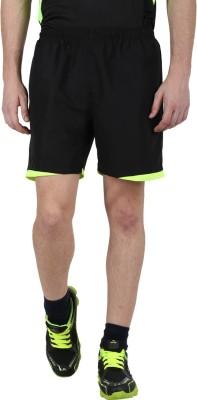Klamotten Solid Men's Black, Green Running Shorts