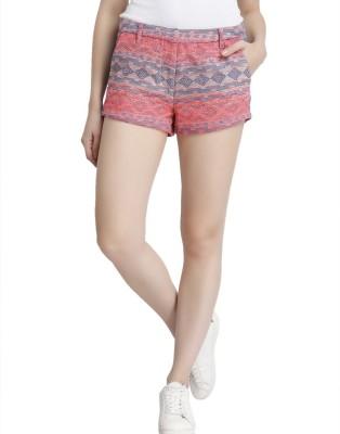 Vero Moda Solid Women's Red Denim Shorts