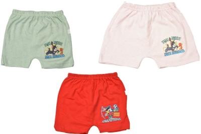 Indirang Printed Boy's Green, Red, Pink Basic Shorts