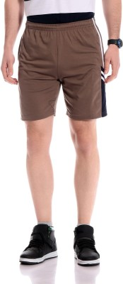 Tab91 Solid Men's Brown Basic Shorts