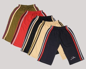 Provalley Short For Boys Cotton(Multicolor, Pack of 5)
