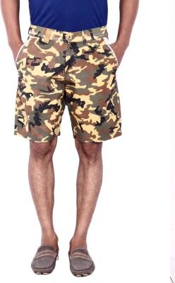 Calloway Printed Men's Brown, Beige Basic Shorts