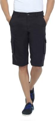 Live In Solid Men's Black Cargo Shorts