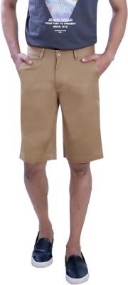 PECOS BILL Self Design Men's Brown Chino Shorts