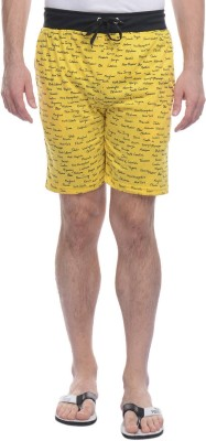 Rose Taylor Printed Men's Yellow Basic Shorts