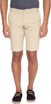 The Indian Garage Co. Solid Men's Beige Chino Shorts