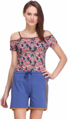 Nineteen Solid Women's Blue Basic Shorts