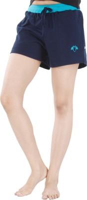 Nite Flite Solid Women's Dark Blue, Light Blue Night Shorts
