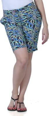 Fast n Fashion Printed Women's Blue, Grey Night Shorts