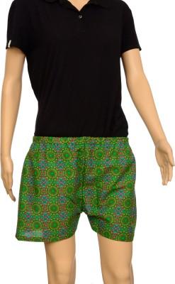 FSTOP Printed Women's Dark Green Night Shorts