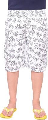 Zrestha Printed Men's White Basic Shorts