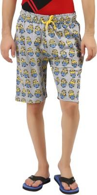 DESPERADO Printed Men's Grey Basic Shorts