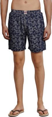 California Club Printed Men's Blue Boxer Shorts