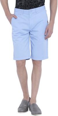 Chumbak Solid Men's Blue Basic Shorts