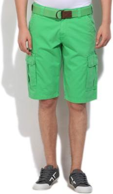 Gant Solid Men's Light Green Cargo Shorts