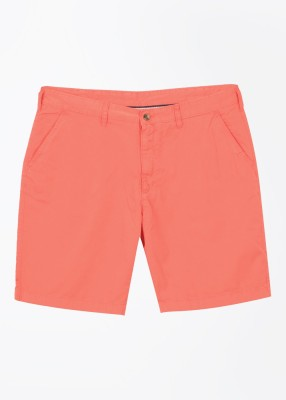 Arrow Sports Solid Men's Pink Basic Shorts