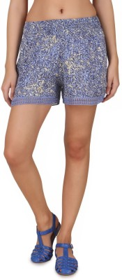 One Femme Printed Women's Multicolor Basic Shorts