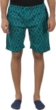 Tantra Printed Men's Green Basic Shorts
